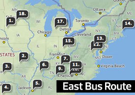 2007 East Bus Route