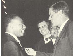 Martin Luther King, Jr. and JFK
