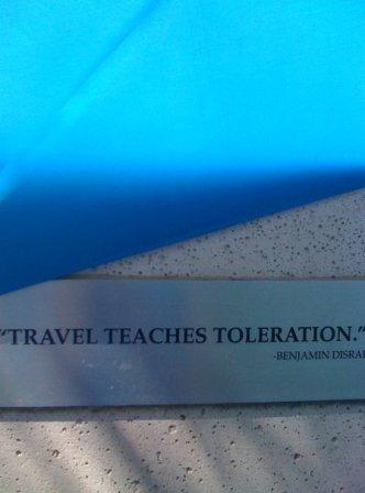 travel art installation